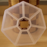 Schmuck Nagelkasten, Kunststoff, Siebeneck, transparent & 7 Zellen, klar, 84x17mm, verkauft von PC
