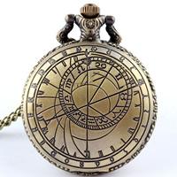 Mode Halskette Uhr, Zinklegierung, mit Eisenkette & Glas, flache Runde, antike Bronzefarbe plattiert, Twist oval, frei von Nickel, Blei & Kadmium, 45x10mm, verkauft per ca. 30 ZollInch Strang