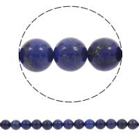 Synthetischer Lapislazuli Perlen, rund, verschiedene Größen vorhanden, Bohrung:ca. 1mm, verkauft per ca. 14.5 ZollInch Strang