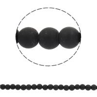 Runde Kristallperlen, Kristall, verschiedene Größen vorhanden & satiniert, Bohrung:ca. 1mm, verkauft per ca. 16 ZollInch Strang