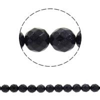 Blaue Goldstein Perlen, blauer Goldsand, rund, synthetisch, verschiedene Größen vorhanden & facettierte, Bohrung:ca. 1mm, verkauft per ca. 14.5 ZollInch Strang