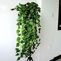 Seidenspinnerei Künstliche Pflanze, mit Kunststoff, Blatt, grün, 90cm, 10SträngeStrang/Tasche, verkauft von Tasche