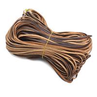 Rindsleder Schnur, Kuhhaut, keine, 3mm, 1m/Strang, verkauft von Strang