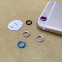 Aluminium Handy-Kamera -Dekoration, flache Runde, verschiedene Stile für Wahl, keine, frei von Nickel, Blei & Kadmium, verkauft von PC