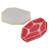 Chemische Wash Acryl Perlen, Klumpen, chemische-Waschanlagen & facettierte, gemischte Farben, 20x13x5mm, Bohrung:ca. 1mm, 2Taschen/Menge, ca. 121PCs/Tasche, verkauft von Menge