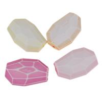 Chemische Wash Acryl Perlen, chemische-Waschanlagen & facettierte, gemischte Farben, 30x20x9mm, Bohrung:ca. 1mm, 2Taschen/Menge, ca. 514PCs/Tasche, verkauft von Menge