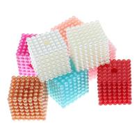 ABS-Kunststoff-Perlen Perle, mit OPP, Würfel, abnehmbare, keine, 20mm, Bohrung:ca. 3mm, 9PCs/Tasche, verkauft von Tasche