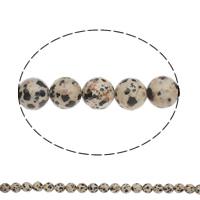 Dalmatinische Perlen, Dalmatiner, rund, natürlich, verschiedene Größen vorhanden, Bohrung:ca. 1mm, Länge:ca. 15 ZollInch, verkauft von Tasche