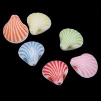 Chemische Wash Acryl Perlen, Schale, chemische-Waschanlagen, gemischte Farben, 11x12x7mm, Bohrung:ca. 1mm, 2Taschen/Menge, ca. 1200PCs/Tasche, verkauft von Menge