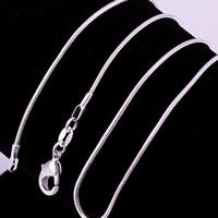 comeon® Schmuck Halskette, Messing, versilbert, verschiedene Größen vorhanden & Schlangekette, verkauft von Strang