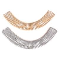 Eisen gebogene Rohr Perlen, plattiert, keine, frei von Nickel, Blei & Kadmium, 80x32x9mm, Bohrung:ca. 6x12mm, verkauft von PC