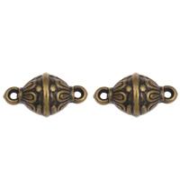 Acryl Schmuckverbinder, Trommel, antike Bronzefarbe plattiert, 1/1-Schleife, 23x13mm, Bohrung:ca. 2mm, 2Taschen/Menge, ca. 400PCs/Tasche, verkauft von Menge