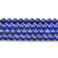 Synthetischer Lapislazuli Perlen, rund, verschiedene Größen vorhanden, blau, Bohrung:ca. 1mm, verkauft per ca. 15.5 ZollInch Strang
