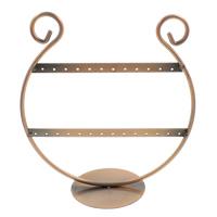 Eisen Ohrringständer, antike Kupferfarbe plattiert, frei von Nickel, Blei & Kadmium, 186x203x84mm, verkauft von PC