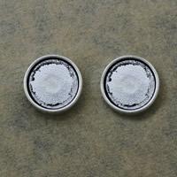Zinklegierung Folie Charme finden, flache Runde, antik silberfarben plattiert, frei von Nickel, Blei & Kadmium, 13x13x5mm, Bohrung:ca. 7.5x1.5mm, Innendurchmesser:ca. 12mm, 500PCs/Menge, verkauft von Menge