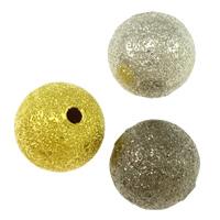 Messing Sternenstaub Perlen, rund, plattiert, Falten, keine, frei von Blei & Kadmium, 10mm, Bohrung:ca. 1mm, 800PCs/Tasche, verkauft von Tasche