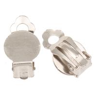 Eisen Ohrbrisure Zubehör, Platinfarbe platiniert, frei von Blei & Kadmium, 10x17x8mm, Bohrung:ca. 3mm, 1000PCs/Tasche, verkauft von Tasche
