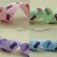 Ripsband, mit Muster von runden Punkten, keine, 25mm, 50m/Tasche, verkauft von Tasche