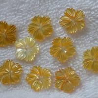 Haarschmuck DIY Ergebnisse, Gelbe Muschel, Blume, natürlich, 15mm, 10PCs/Menge, verkauft von Menge