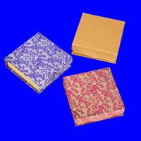 Karton Armbandkasten, Quadrat, verschiedene Muster für Wahl, 90x90x30mm, 60PCs/Menge, verkauft von Menge