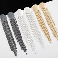 Mode-Fringe-Ohrringe, Zinklegierung, Edelstahl Stecker, plattiert, keine, frei von Nickel, Blei & Kadmium, 90x15mm, verkauft von Paar