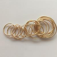 gold-gefüllt Band-Ohrring -Komponenten, 14K gefüllt & verschiedene Größen vorhanden, frei von Nickel, Blei & Kadmium, verkauft von Paar