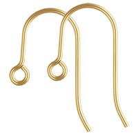 gold-gefüllt Ohrhaken, 14K gefüllt, frei von Nickel, Blei & Kadmium, 20x12mm, 0.76mm, verkauft von Paar