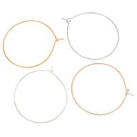 Eisen Band-Ohrring -Komponenten, plattiert, keine, frei von Nickel, Blei & Kadmium, 26x29x1mm, 1000PCs/Tasche, verkauft von Tasche