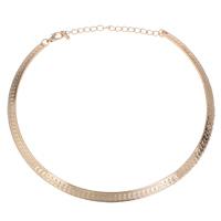 Eisen Halsketten, Kreisring, KC goldfarben plattiert, frei von Blei & Kadmium, 140x125x1mm, verkauft per ca. 16 ZollInch Strang