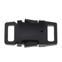 Kunststoff Folie Release Schnalle, schwarz, 28x16x7mm, Bohrung:ca. 9x3mm, 1000PCs/Menge, verkauft von Menge