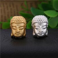 Buddhistische Perlen, 99%, Buddha, plattiert, buddhistischer Schmuck, keine, 16x13mm, Bohrung:ca. 2.3mm, 3PCs/Menge, verkauft von Menge