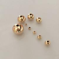 gold-gefüllt Perle, rund, 14K gefüllt & verschiedene Größen vorhanden, frei von Nickel, Blei & Kadmium, verkauft von Menge