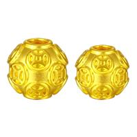 24K Gold Perlen, 24 Karat Gold, rund, verschiedene Größen vorhanden, Bohrung:ca. 3mm, verkauft von PC