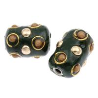Indonesien Perlen, mit Zinklegierung, Zylinder, plattiert, 16x11mm, Bohrung:ca. 2mm, 100PCs/Tasche, verkauft von Tasche
