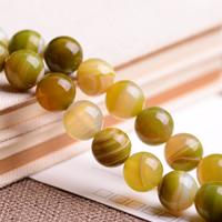 Natürliche Streifen Achat Perlen, rund, verschiedene Größen vorhanden, Grade AAAAAA, Bohrung:ca. 1mm, verkauft per ca. 15.5 ZollInch Strang