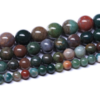 Natürliche Indian Achat Perlen, Indischer Achat, rund, verschiedene Größen vorhanden, Grade AAAAA, Bohrung:ca. 1mm, verkauft per ca. 15.5 ZollInch Strang