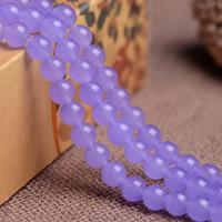 Lila Chalcedon, violetter Chalzedon, rund, natürlich, verschiedene Größen vorhanden, Grade AAAAAA, Bohrung:ca. 1mm, verkauft per ca. 15.5 ZollInch Strang