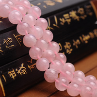 Natürliche Rosenquarz Perlen, rund, verschiedene Größen vorhanden, Grade AAAAA, Bohrung:ca. 1mm, verkauft per ca. 15.5 ZollInch Strang