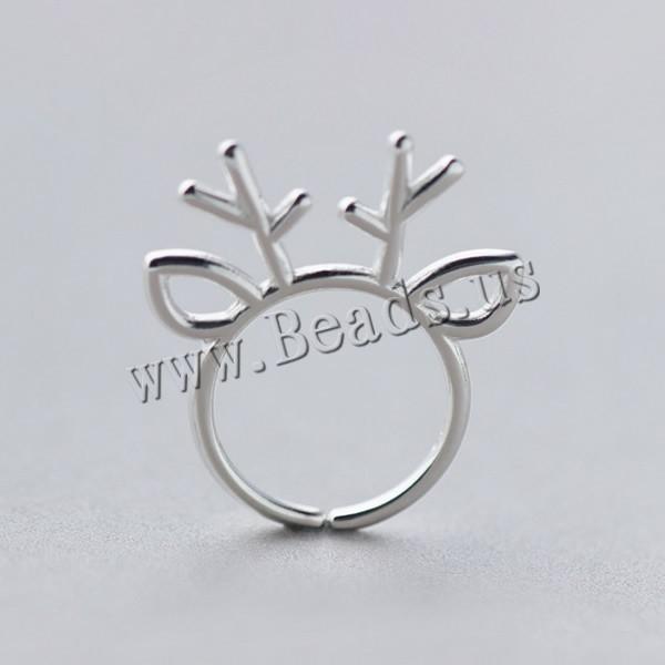 Weihnachten Finger Ring, 925 Sterling Silber, Geweihe ...