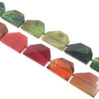 Natürliche Drachen Venen Achat Perlen, Drachenvenen Achat, keine, 51x37x7mm, Bohrung:ca. 1.5-2mm, ca. 8PCs/Strang, verkauft per ca. 15.5 ZollInch Strang