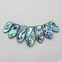 Mode Halskette unten, Seeohr Muschel, mit Schwarze Muschel, natürlich, abgestufte Perlen, 131mm, 17-21x31-48x5mm, Bohrung:ca. 0.5mm, 3SträngeStrang/Menge, verkauft von Menge