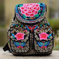 Segeltuch Rucksack, mit Eisen, bestickte, farbenfroh, 180x120x200mm, 5PCs/Tasche, verkauft von Tasche