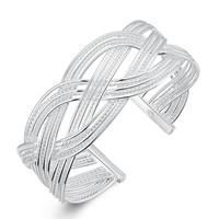 comeon® Schmuck Armband, Messing, versilbert, frei von Nickel, Blei & Kadmium, 23mm, Länge:ca. 7 ZollInch, verkauft von PC