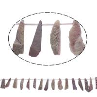 Druzy Beads, Eisquarz Achat, natürlich, druzy Stil, Rosa, 13x31x12-16x39x10mm, Bohrung:ca. 1mm, 20PCs/Strang, verkauft per ca. 15.5 ZollInch Strang