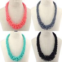 Glasperlen -Halsketten-, Japanische Glassamenkorn, mit Verlängerungskettchen von 2lnch, Bohemian-Stil, keine, Länge:ca. 19 ZollInch, 3SträngeStrang/Menge, verkauft von Menge