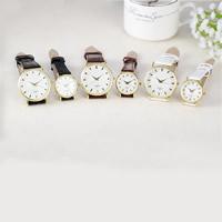Ehepaar Uhrenarmbänder, PU Leder, mit Zinklegierung Zifferblatt & Glas, plattiert, verschiedene Stile für Wahl & wasserdicht & für paar, keine, verkauft von PC