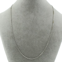 Halskette, Edelstahl, Valentino-Kette, originale Farbe, 5x2x1mm, verkauft per ca. 19.5 ZollInch Strang