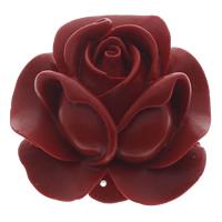 Cinnabaris Schmuckverbinder, Blume, 1/1-Schleife, rot, 50x50x21mm, Bohrung:ca. 1mm, 10PCs/Tasche, verkauft von Tasche