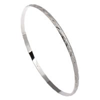 Eisen Armreif, Kreisring, Platinfarbe platiniert, frei von Blei & Kadmium, 66x3mm, Innendurchmesser:ca. 63mm, Länge:ca. 7.5 ZollInch, verkauft von PC