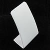 PU Leder Ohrringständer, mit Karton, Rechteck, weiß, 100x87x47mm, verkauft von PC